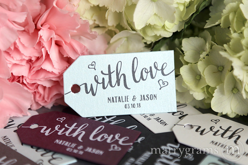 With Love Favor Tags Heart Style