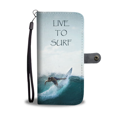 Live To Surf Wallet Phone Case