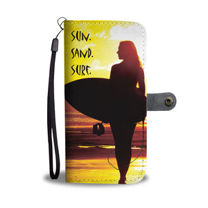 Wallet phone cases - sun sand surf