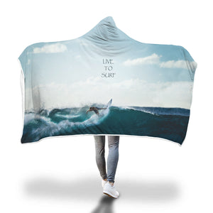 Hooded Blanket Surfing Live To Surf