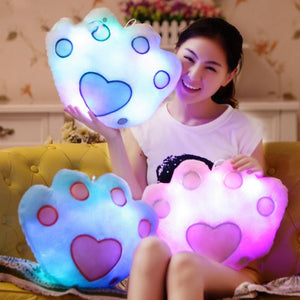LED Glowing Bear Paw Pillow