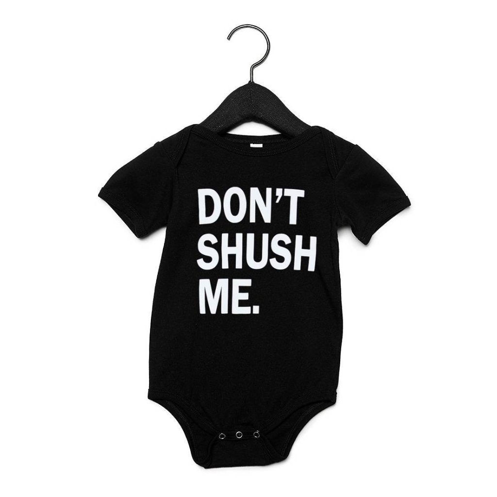 Short Sleeve Onesie - Black