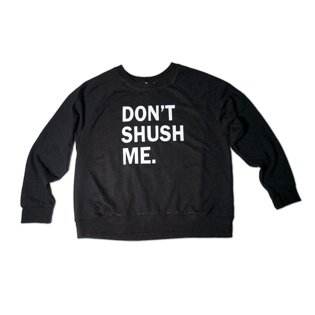 Long Sleeve Crew Neck Sweatshirt - Black