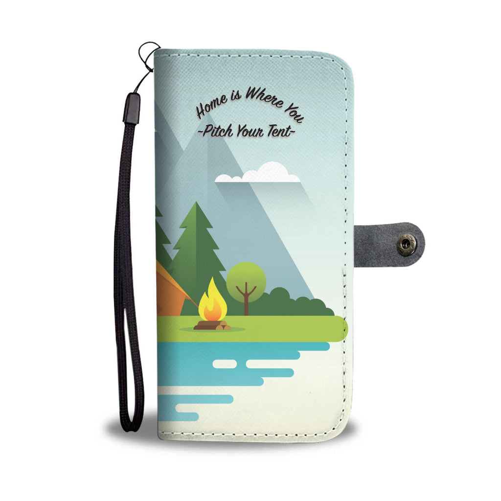 Home Is Where You Pitch Your Tent Wallet Case - Trekmor