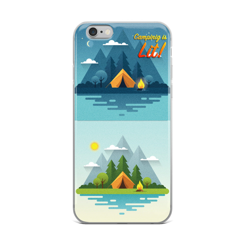 Camping is LIT! iPhone Case - Trekmor