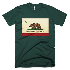 California Republic Flag Cannabis Legalization Tee - Trekmor