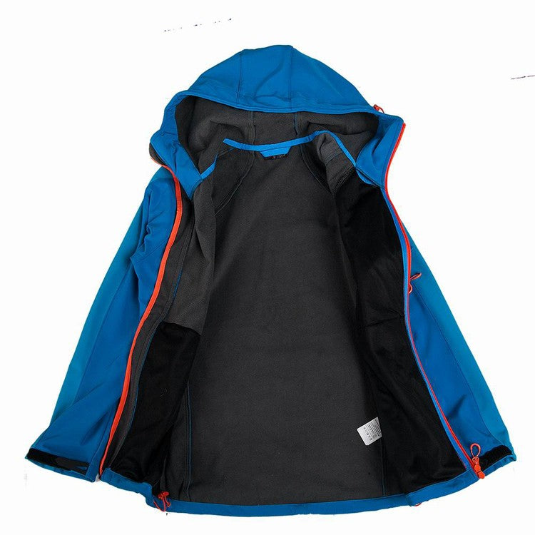 Men's Softshell Hooded Jacket Waterproof Windproof - Trekmor