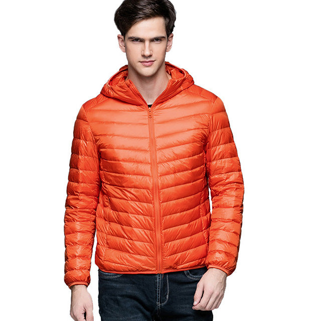 Men's Hooded Ultra Light Down Jacket - Trekmor