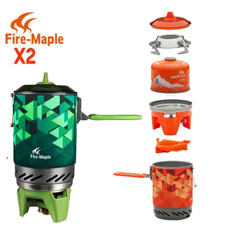 Compact One-Piece Camping Stove Heat Exchanger Pot Personal Cooking System - Trekmor