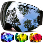 Winter Snow Sports Snowboard Goggles with Anti-fog UV Protection for Men Women Youth - Trekmor