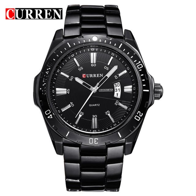 Men Sports Watch Quartz Stainless Steel - Trekmor