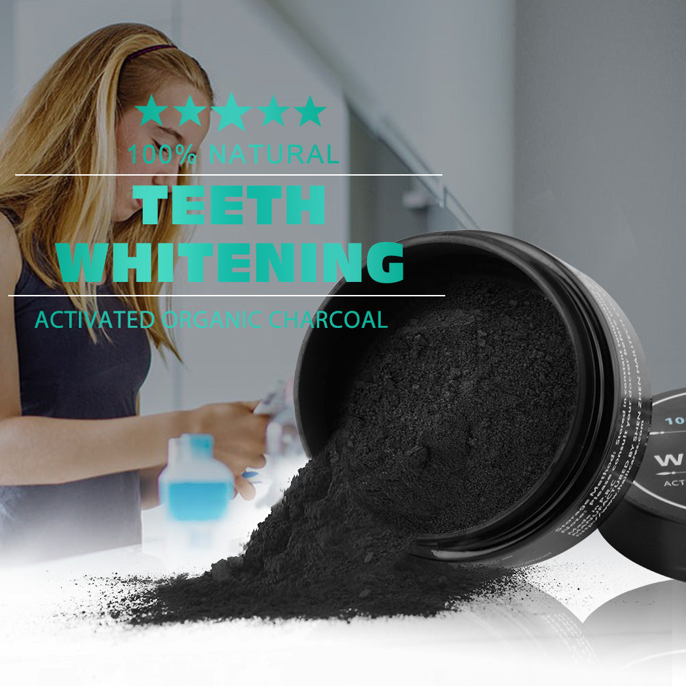 Natural Activated Charcoal Teeth Whitening Powder, Toothpaste - Trekmor
