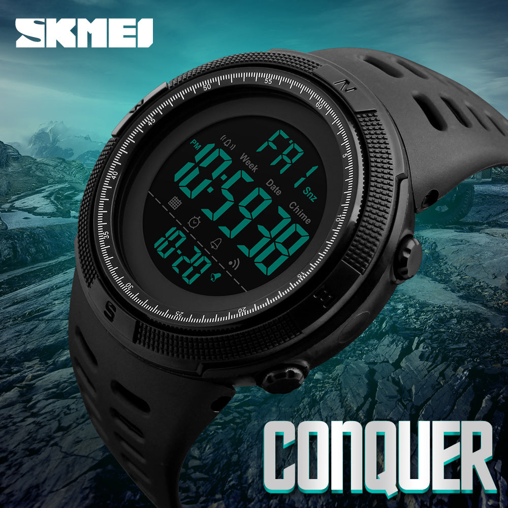 Mens Sport Watches Chrono Countdown Waterproof Digital Watch - Trekmor