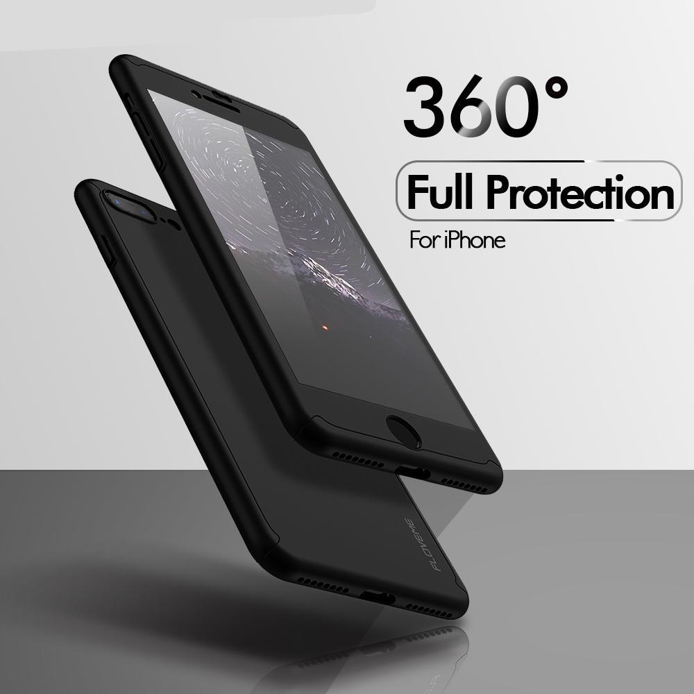 360º Protective Case For iPhone with Tempered Glass Screen Protection - Trekmor