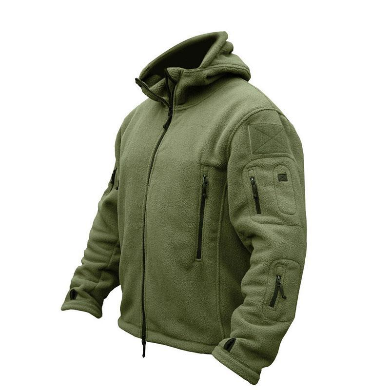Winter Fleece Jacket Tactical Thermal Breathable Hooded - Trekmor