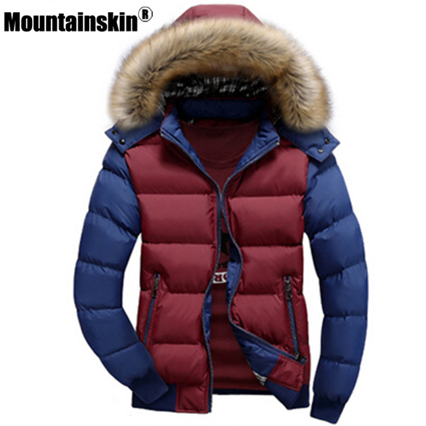 Men's Winter Jackets Hooded Fur - Trekmor