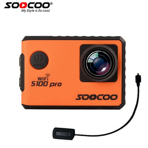 SOOCOO S100PRO 4K UHD Wifi Sports Action Camera Touch Screen Gyro with GPS Extension Model  Voice Control  1080P HD Action Cam - Trekmor