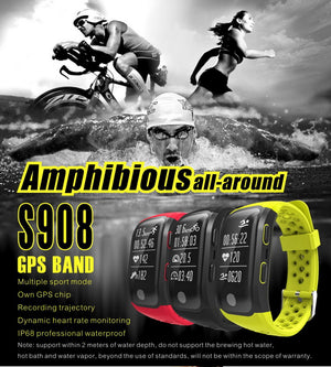 GPS Sports Smart Band Waterproof Swimming Wristband Bluetooth Heart Rate Monitor Fitness Tracker - Trekmor