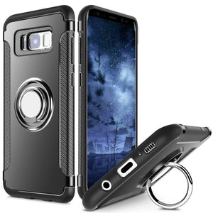 Samsung Galaxy Case With Metal 360º Finger Ring/Stand - Trekmor
