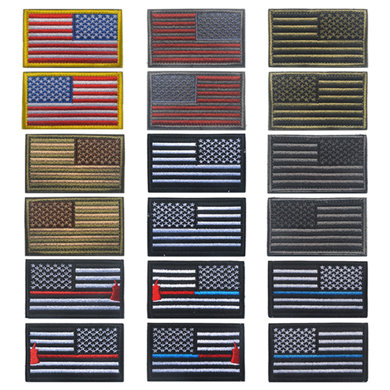 2 pieces American Flag Left And Right Military Patch - Trekmor