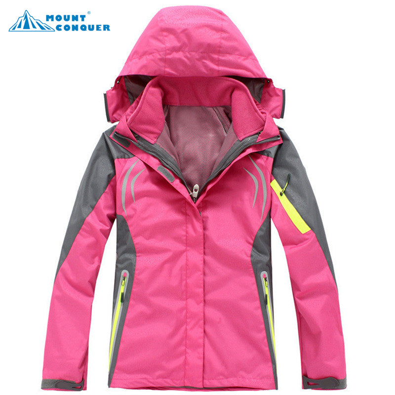 Women Fleece Softshell Wateroproof Jacket 3in1 - Trekmor