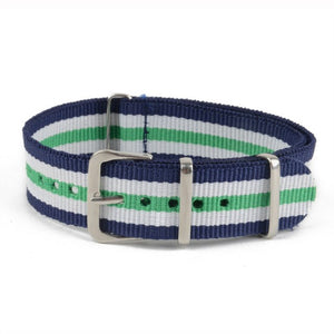 Causal/Sport Nylon  18mm, 20mm, 22mm, Alloy Buckle, Colorful Stripe, Watchbands - Trekmor