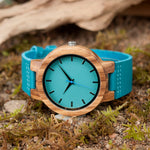 Leather Strap Wooden Watches for Men and Women - Trekmor