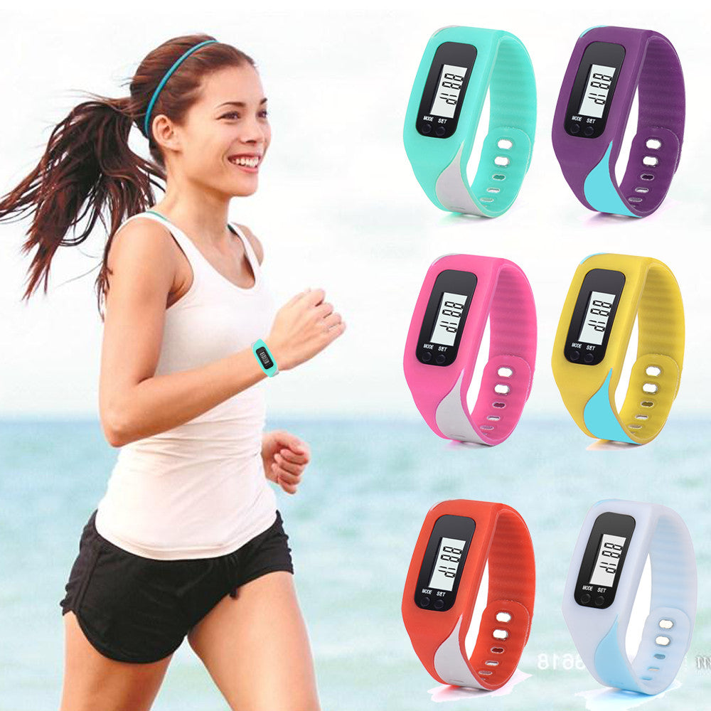 Pedometer sports wrist band with Calorie Counter - Trekmor