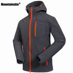 Softshell Men's Windstopper Waterproof Hiking Jackets - Trekmor