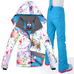 Women Waterproof Windproof Snowboard Jacket+Pant - Trekmor