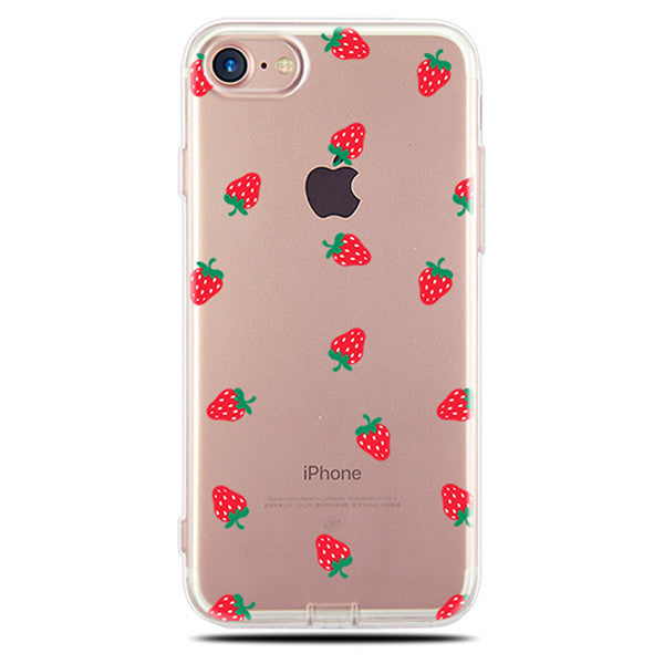 Summer 2018 Tropical Prints Silicone Transparent Soft Back Cover For iPhone - Trekmor