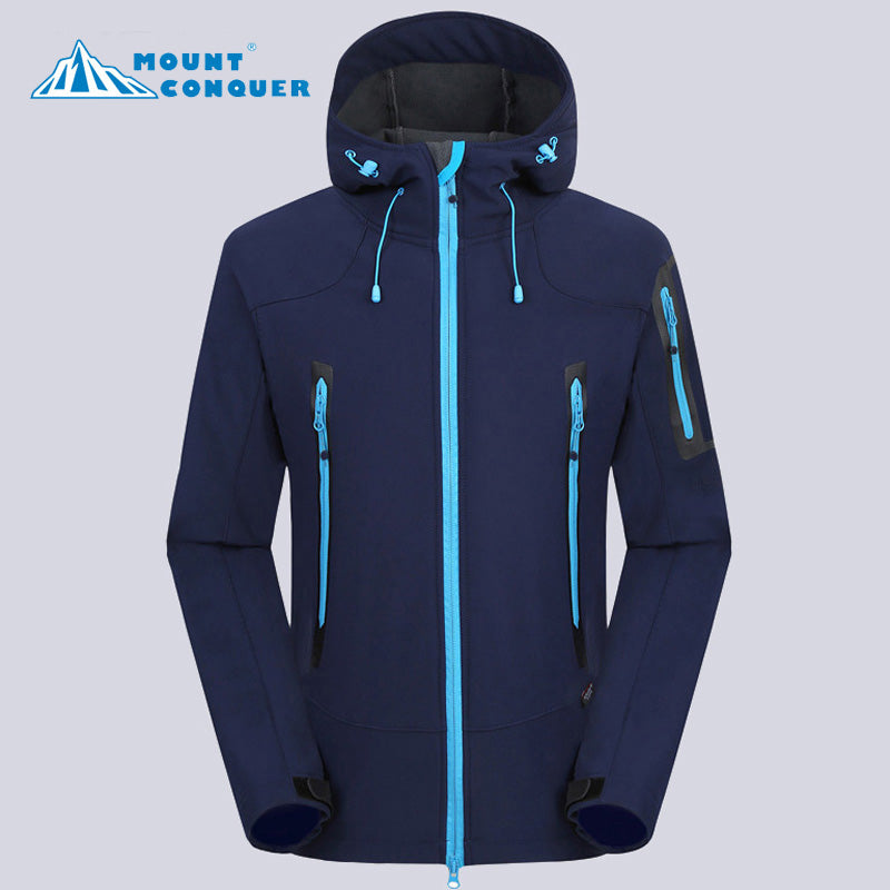 Men's Winter Softshell Waterproof Windproof Jacket - Trekmor