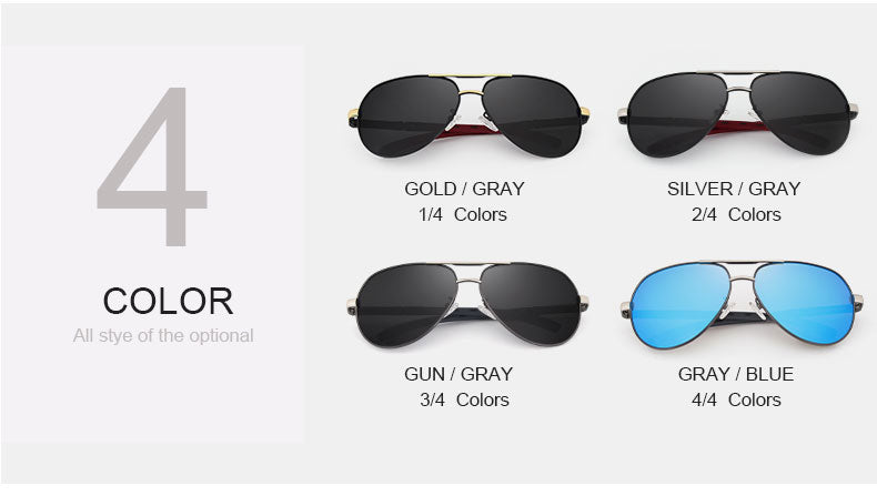 Aluminum HD Polarized Aviator Sunglasses - Trekmor