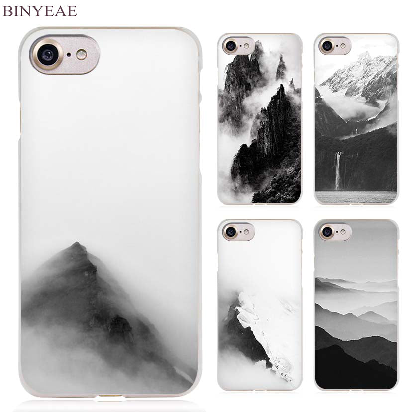 Black and White Mountain Landscape Photo iPhone Case FREE + Shipping