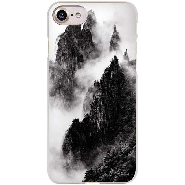 Black and White Mountain Landscape Photo iPhone Case FREE + Shipping - Trekmor