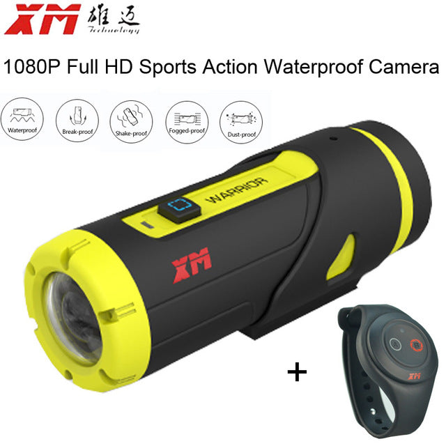 XM H.265 1080P Full HD Sports Action Camera 16GB Card Wifi Waterproof With Remote Controller - Trekmor