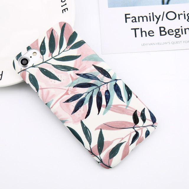 Summer Leaf pattern iPhone Case - Trekmor