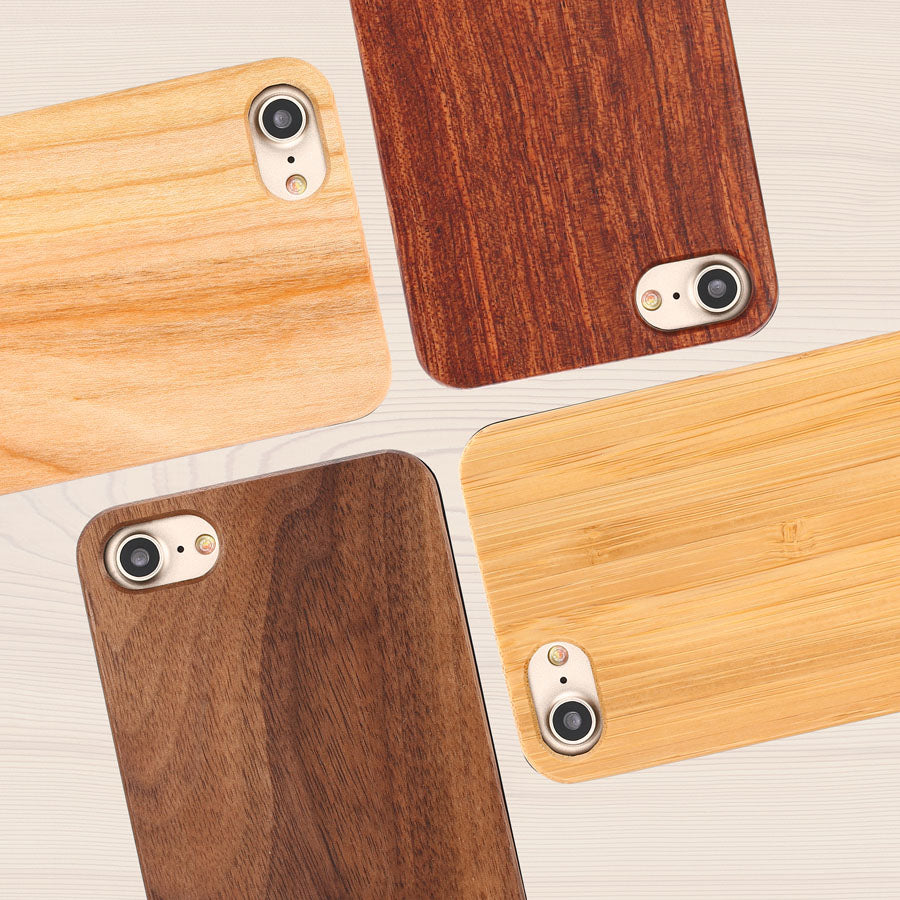 Genuine Wood Phone Cases For iPhone Rosewood, Bamboo, Cherry - Trekmor