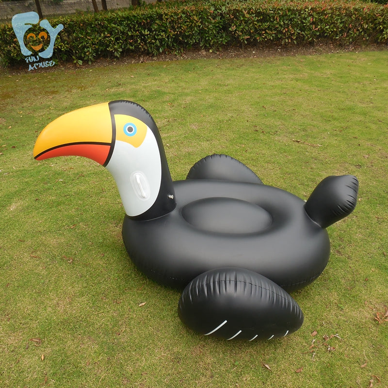 Inflatable Black Toucan Pool Float - Trekmor
