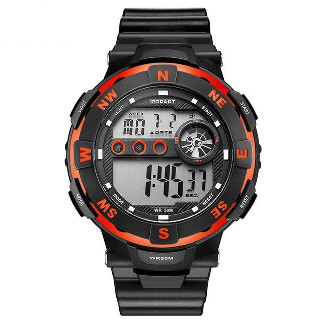 Men's LED Digital Watch Outdoor Sports Waterproof Wristwatches - Trekmor