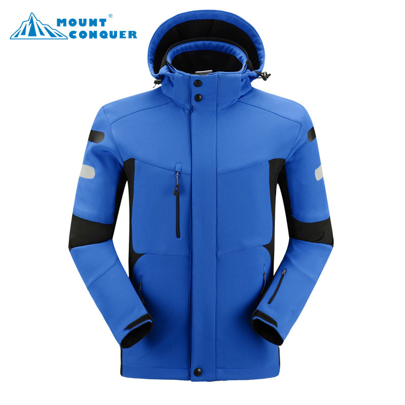 Men's Softshell Jacket Waterproof Windproof - Trekmor