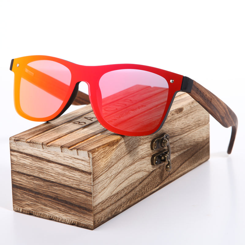 Zebrawood Rimless Sunglasses