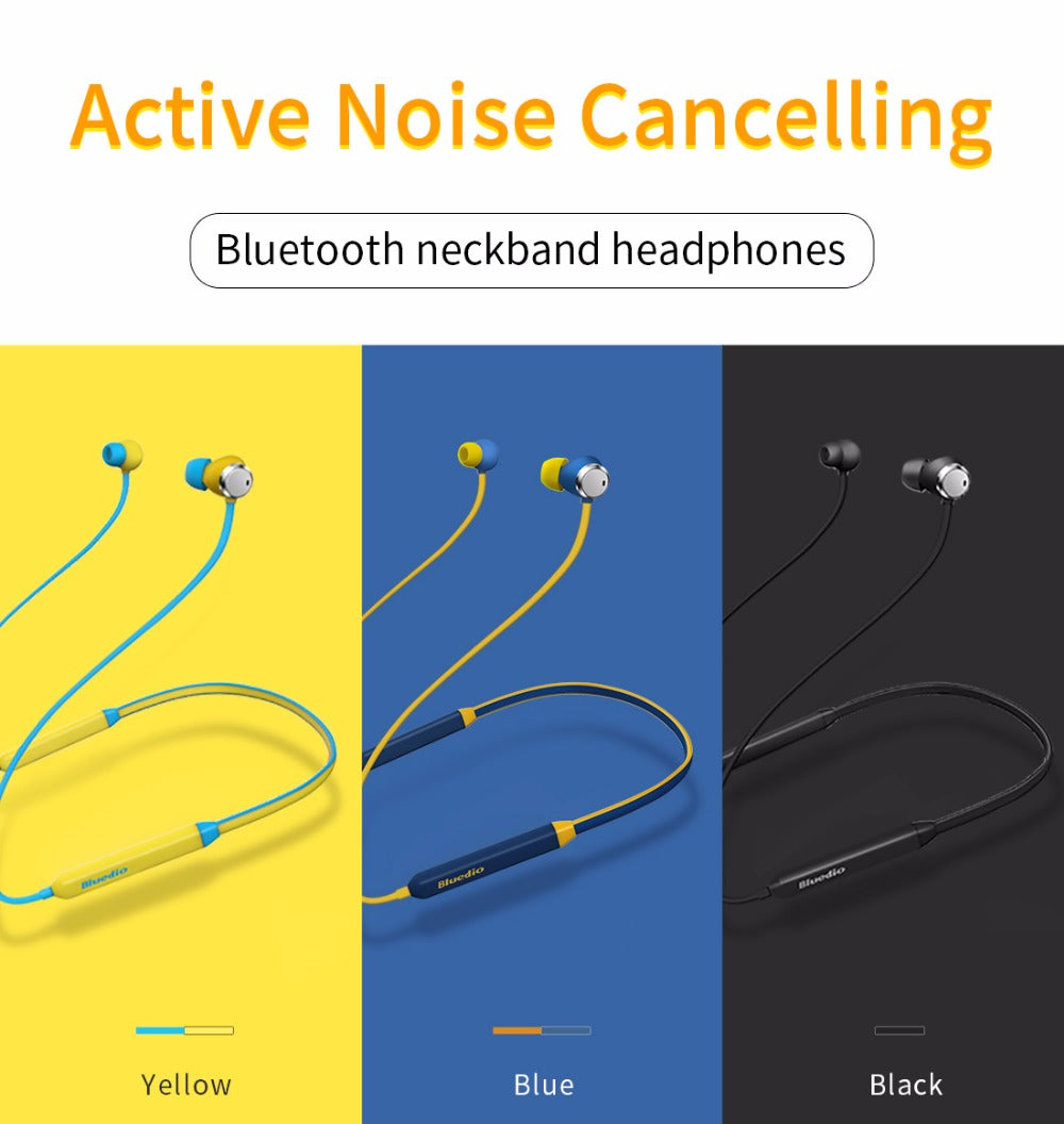 Active Noise Cancelling Sports Bluetooth Earphone/Wireless Headset - Trekmor
