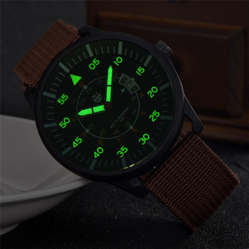 Luminous Analog Nylon Band Watch - Trekmor