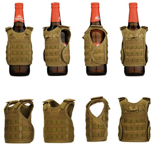 Mini Molle Tactical Vest for Bottles and Cans - Trekmor