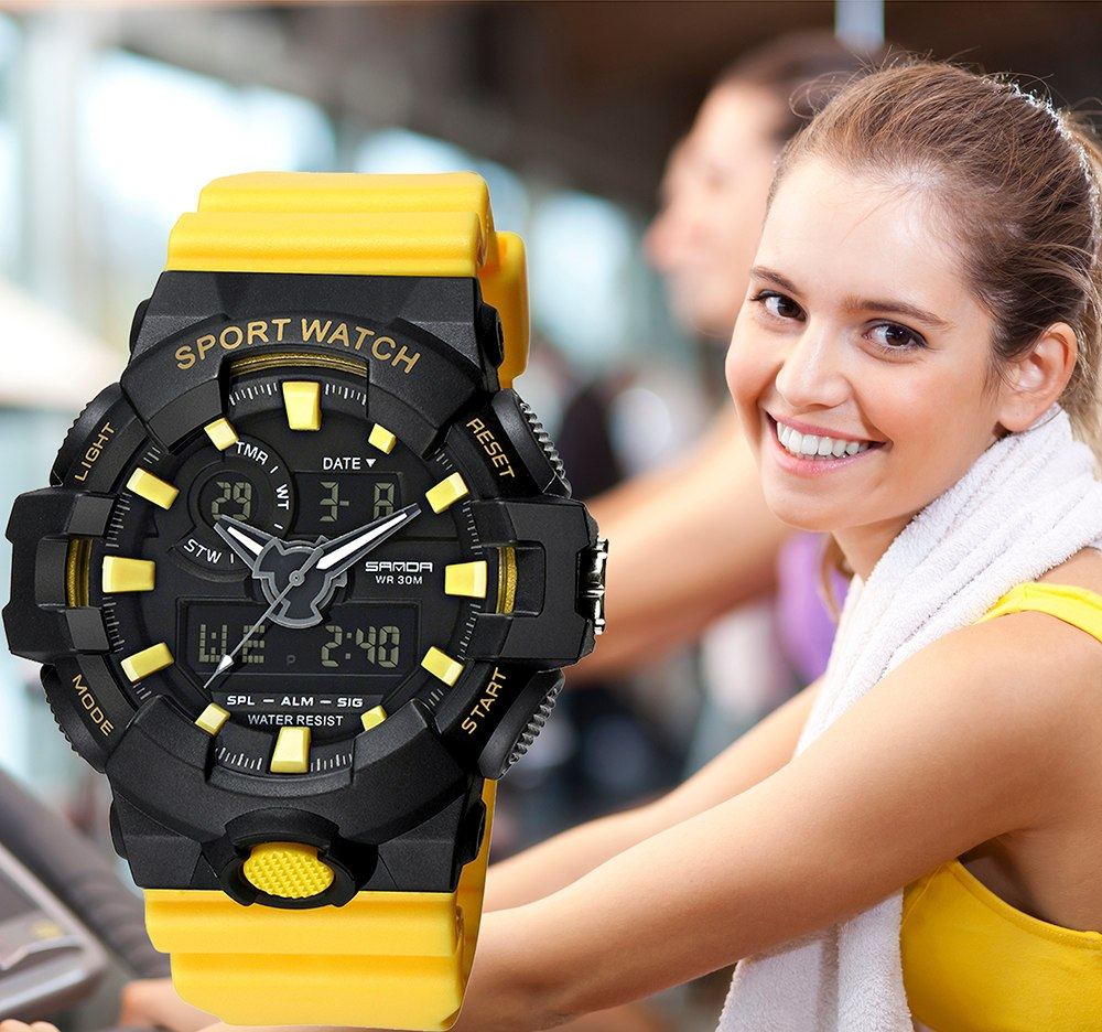 Women's Waterproof Dual Display Sport Watch - Trekmor