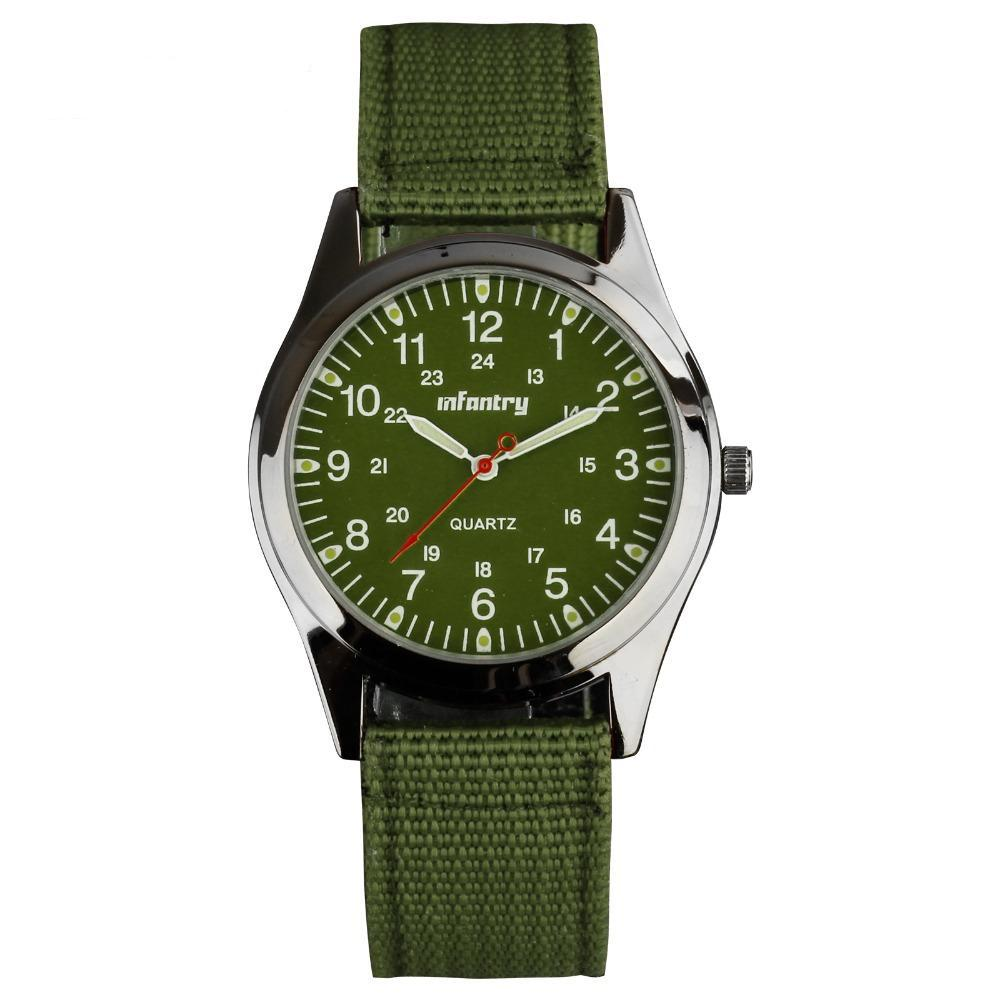 INFANTRY Military Glow In The Dark Analog Wristwatch - Trekmor