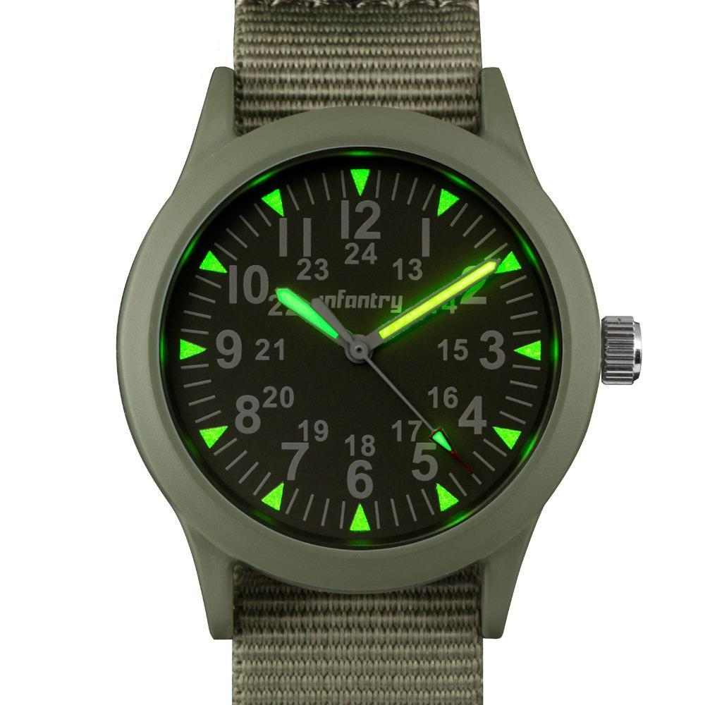 INFANTRY Analog Luminous Army Wristwatch - Trekmor