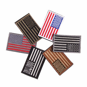 Embroidered American Flag Patch - Trekmor