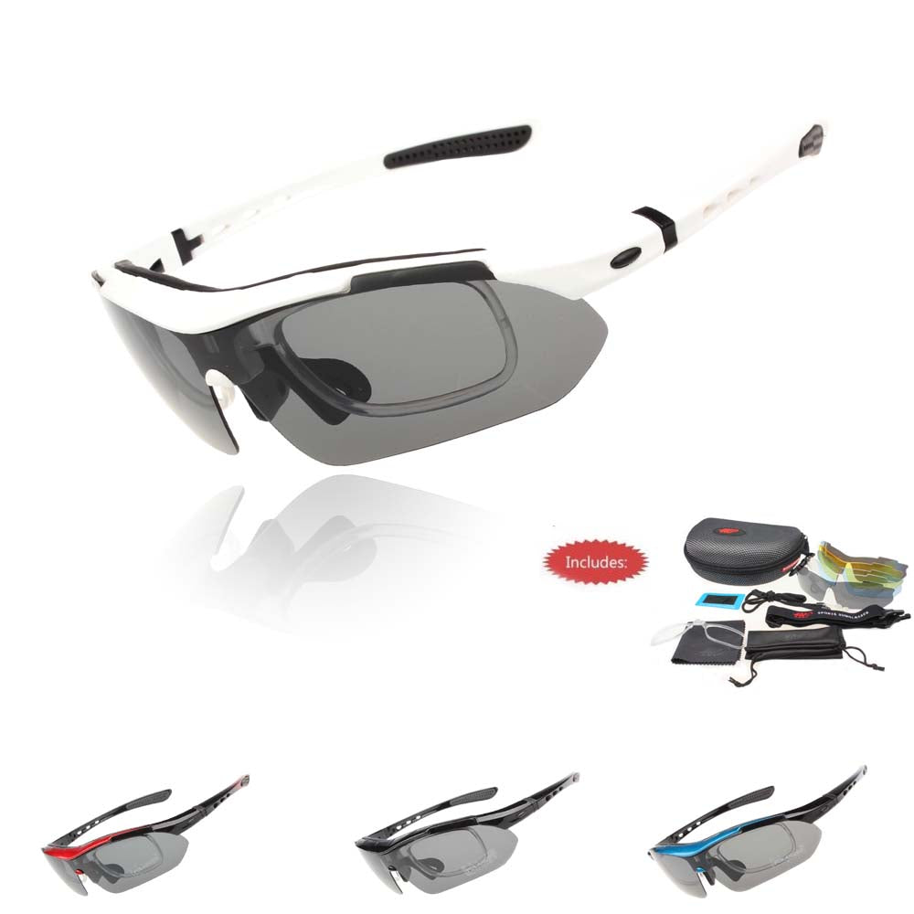 Professional Polarized Outdoor Sports Bicycle Sunglasses UV 400 With 5 Lens - Trekmor